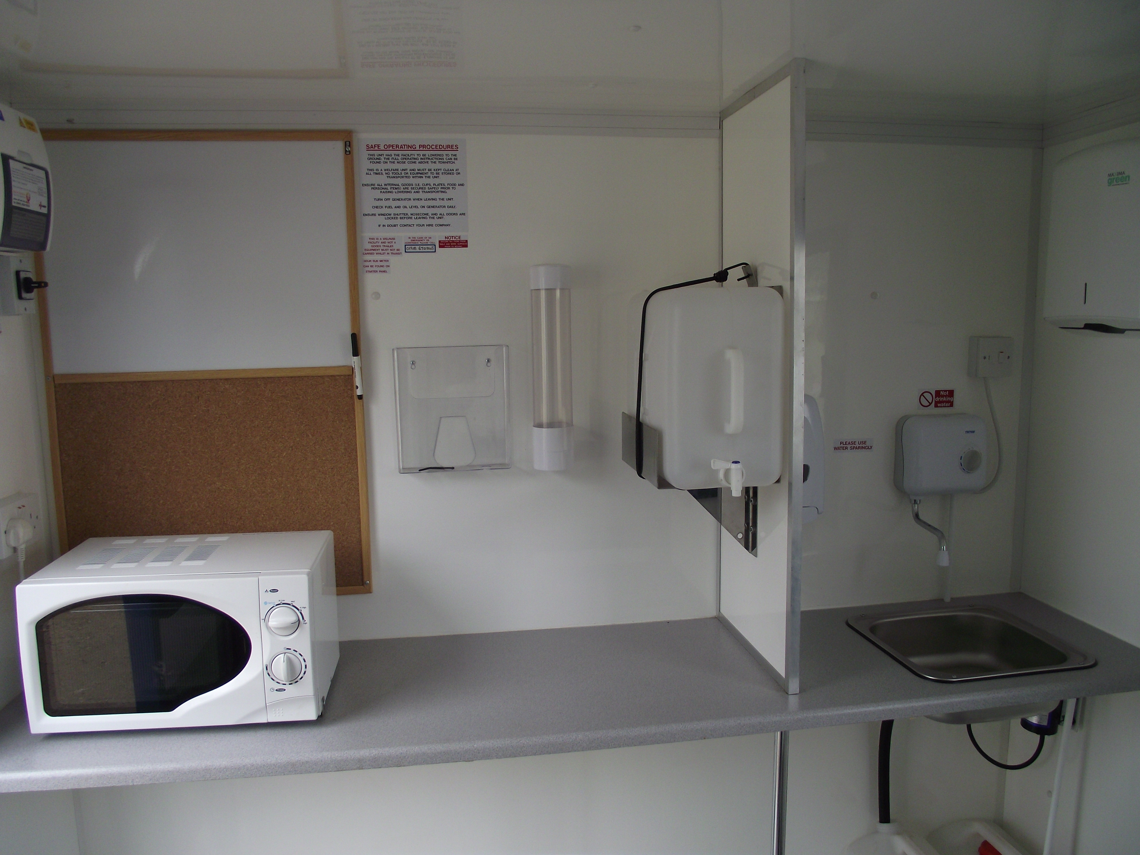 Interior of our mobile welfare units